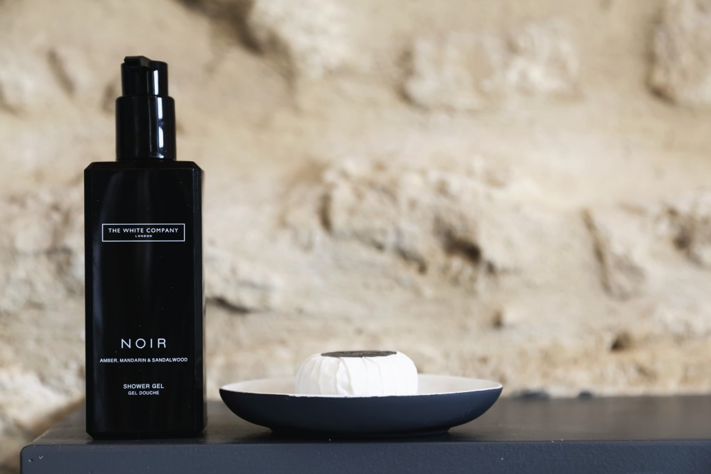 Complimentary toiletries from The White Company
