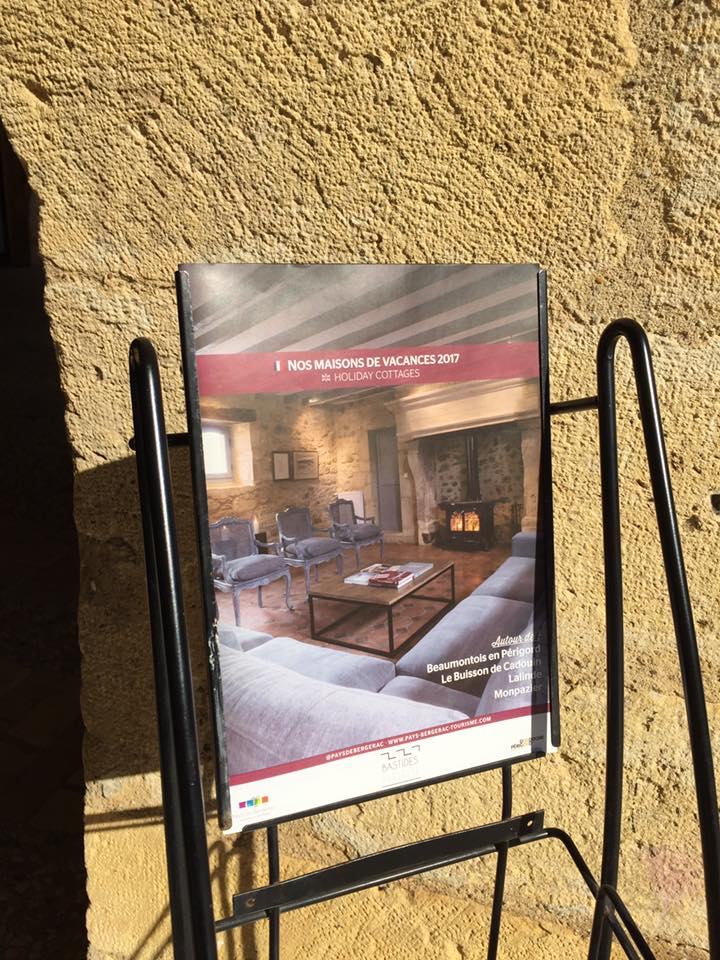 Dordogne Tourist Office, Le Mas on the front cover of their brochure, 2017
