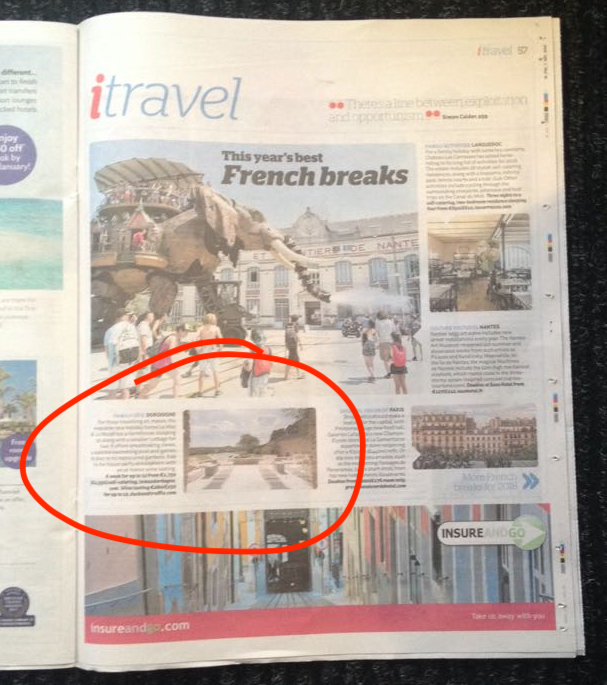 "I newspaper's ""Best French breaks"", janvier 2018"